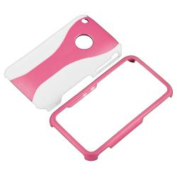 Pink/ White Cup Shape Case/ LCD Protector for Apple iPhone 3G/ 3GS