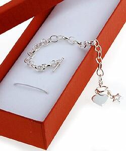 Sterling Essentials Sterling Silver 6-inch Pearl Superstar Girl's Bracelet