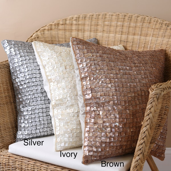Mother of Pearl 18x18-inch Pillows (Set of 2)