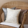 Mother of Pearl Accent 14-inch Square Throw Pillows (Set of 2)