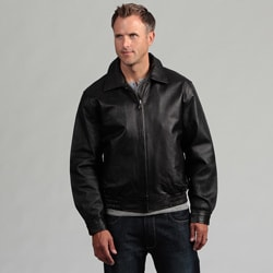 Tanners Avenue Men's Pig Napa Leather Bomber Jacket