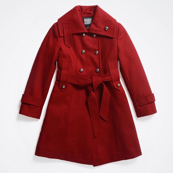 Rothschild Girls' Wool Trench Coat (Size 7-16)