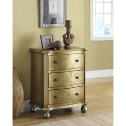 Bombay Gold Transitional 3-drawer Chest