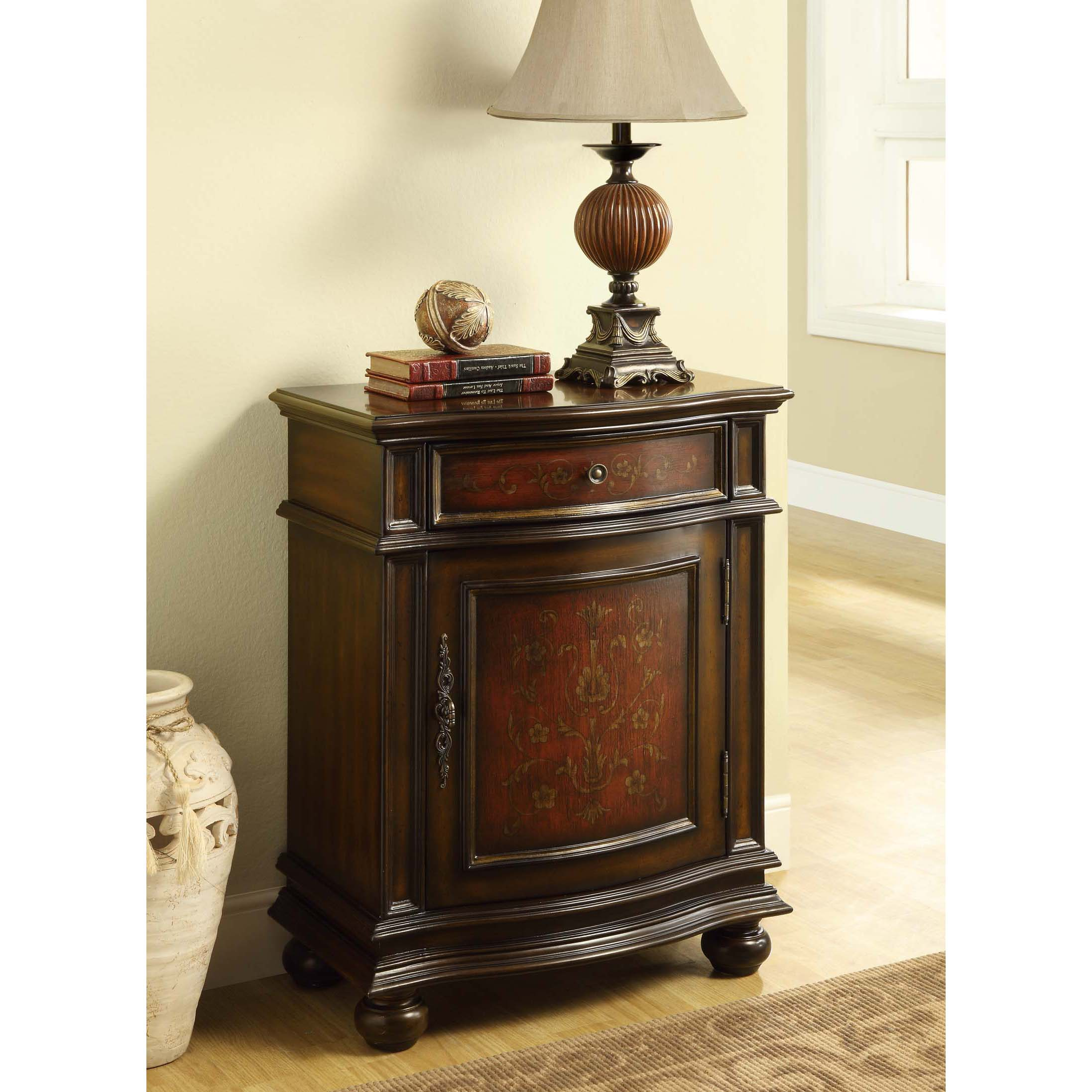 Bombay Cherry/ Red Traditional 1-drawer Cabinet