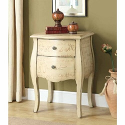 Bombay 'Vintage French' Antique White 2-drawer Chest