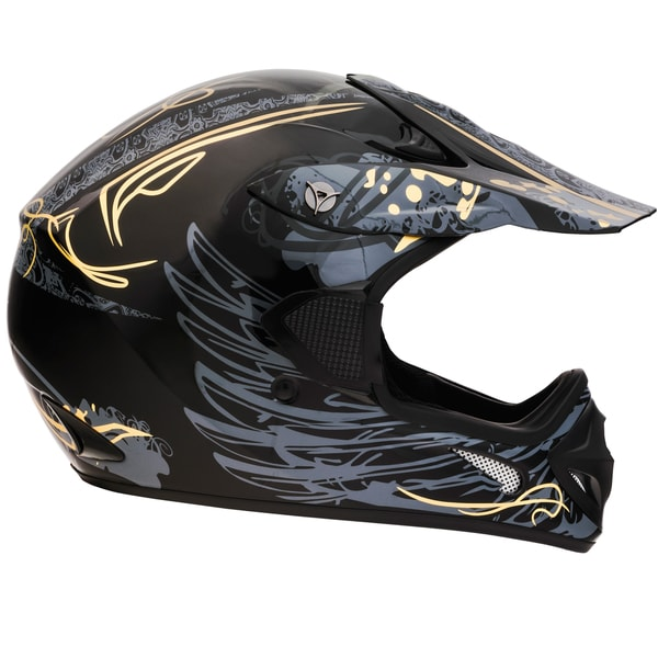 Fuel Helmets Men's Black Off-road Motorcycle Helmet with Graphic