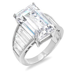 Sterling Essentials Silver Cubic Zirconia Celebrity-inspired Engagment Ring