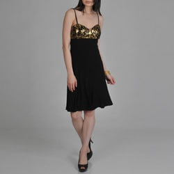 Janine of London Women's Adjustable Strap Sequin Detail Cocktail Dress