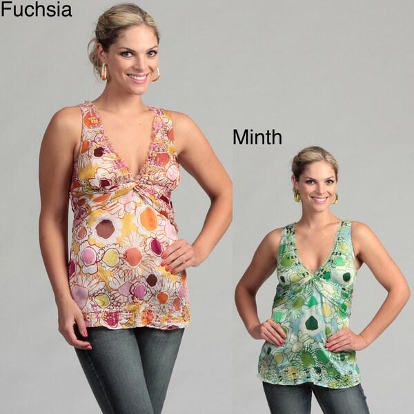 Ebene Women's Floral Sleeveless Blouse