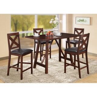 Mocha Veneer Counter Height Dining Table