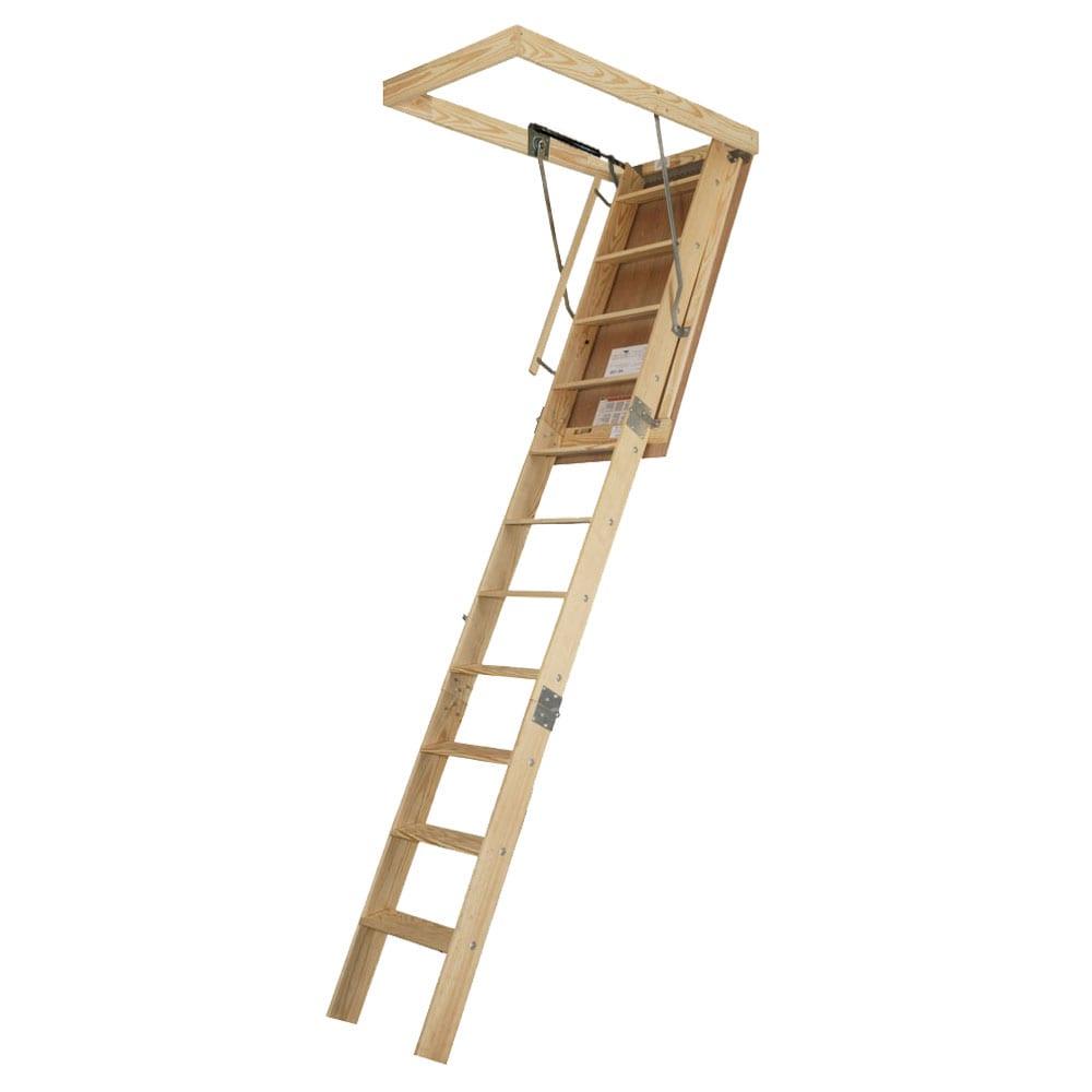 Wooden Gas Strut 10 foot-3 inch Attic Stair