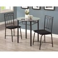 Grey Marble/ Charcoal Metal 3-piece Bistro Set