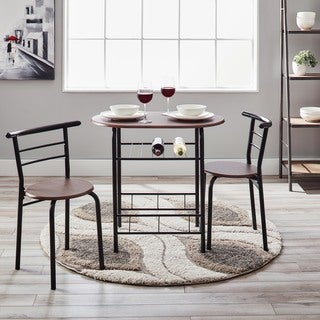 Simple Living Espresso 3 pc Bistro Set