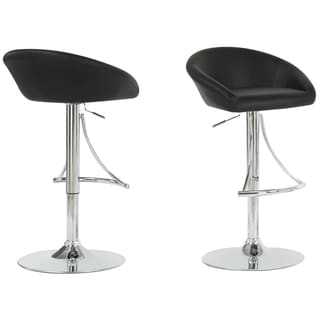 Black/ Chrome Metal Hydraulic Lift Barstool