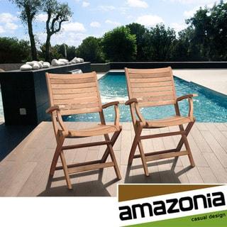 Amazonia Teak Bordeaux Teak Armchairs (Set of 2)