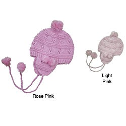 Leisureland Hand-crocheted Acrylic Earflapped Beanie Hat