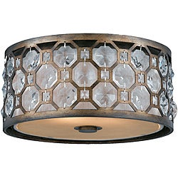 Cartier 2-light Flushmount in Weathered Bronze