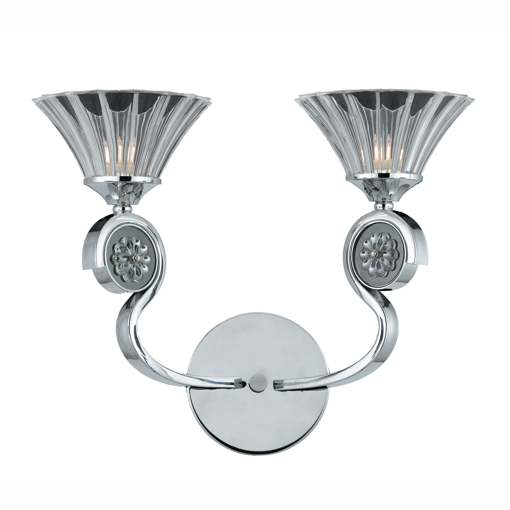 Medallion 2-light Wall Sconce in Chrome Finish