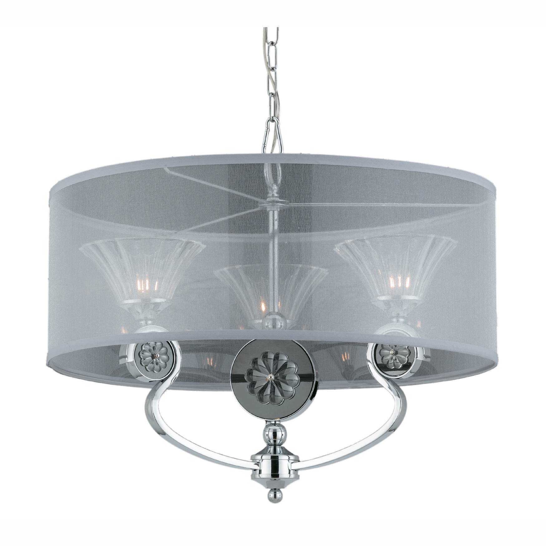 Medallion 3-light Pendant With Chrome Shade