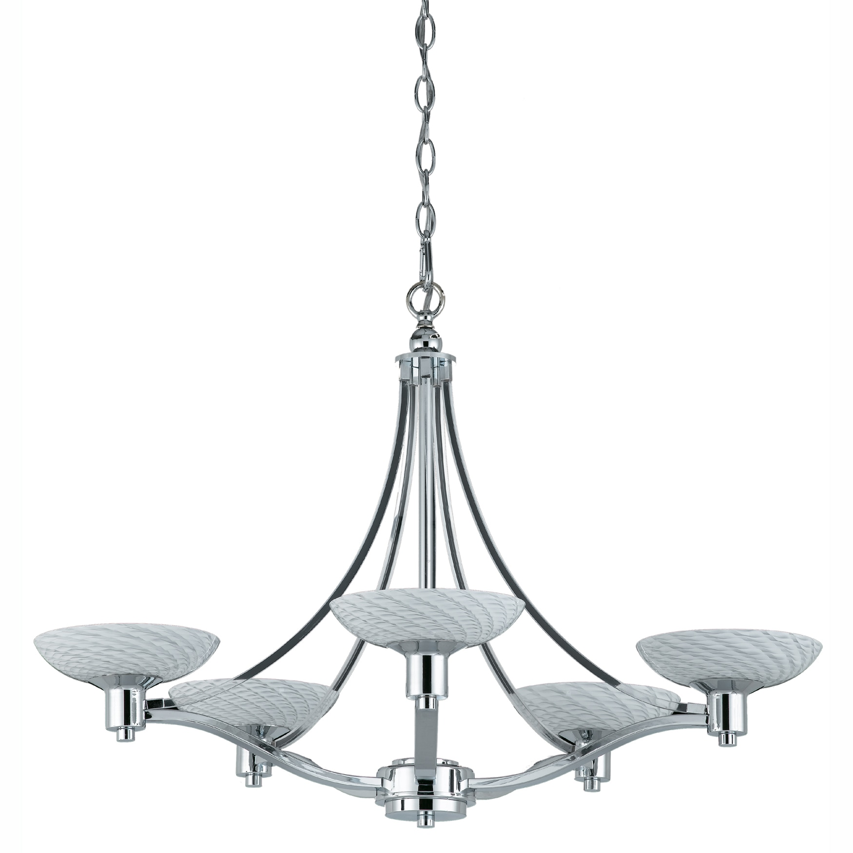 Contemporary 5-light Polished Chrome Chandelier