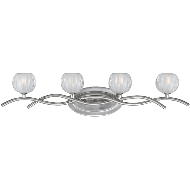 Cosmo 4-light Bath Vanity in Satin Nickel Finish