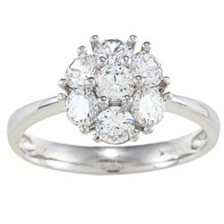 Alyssa Jewels 14k White Gold 1 1/2ct TGW Clear Cubic Zirconia Engagement-style Ring