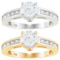 Alyssa Jewels 14k Gold Round Cubic Zirconia Engagement-style Ring