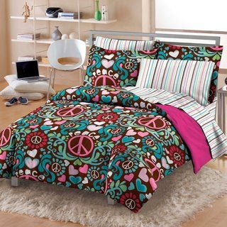 Lucy Cotton Patterned Printed 7-piece Bed-in-a-bag with Sheet Set