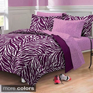Zebra 6-piece Bed in a Bag with Sheet Set