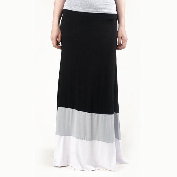 Tabeez Women's Color-blocked Maxi Skirt