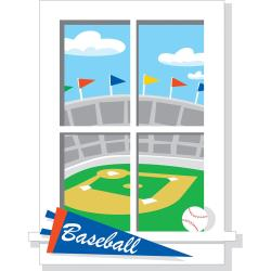 RoomMates Play Ball Peel and Stick Window Wall Decal