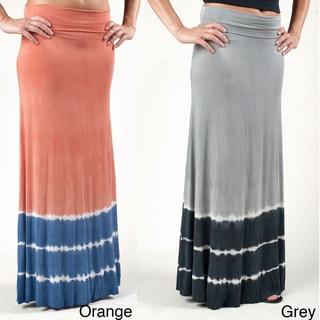 Tabeez Women's Tie-dyed Maxi Skirt
