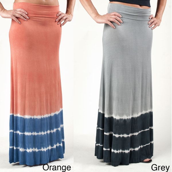 Tabeez Women's Tie-dyed Maxi Skirt