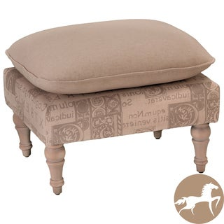 Christopher Knight Home Bishop Beige Two-Tone Leaf Ottoman