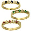 Beverly Hills Charm 14k Gold Gemstone and 1/10ct TDW Diamond Anniversary Ring