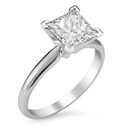 14k White Gold 1 1/4ct TDW Diamond Solitaire Engagement Ring (G-H, SI1-SI2)