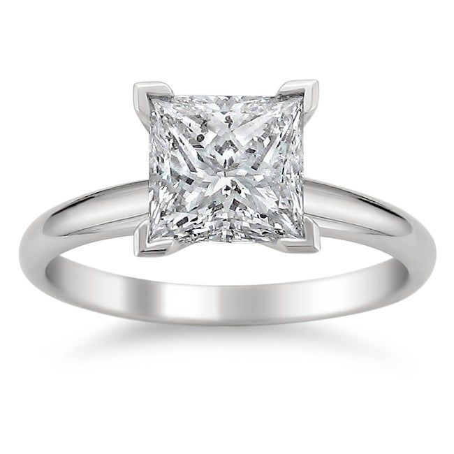 Montebello 14k White Gold 1 1/2ct TDW Diamond Solitaire Engagement Ring (G-H, SI1-SI2)