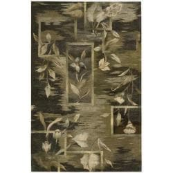 Nourison Hand-tufted Reflections Black Wool Rug (3'9 x 5'9)