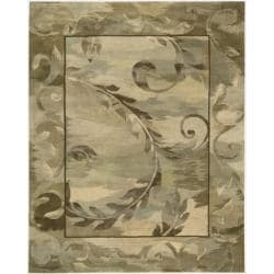 Nourison Hand-tufted Reflections Beige Wool Rug (8'6 x 11'6)