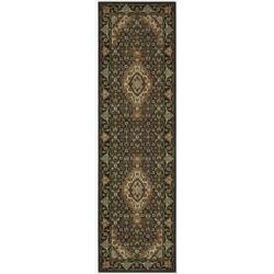 "Nourison Persian Arts Black Polyacrylic Rug (2'3"" x 8')"