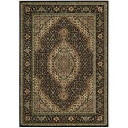 Nourison Persian Arts Floral Black Rug (3'6 x 5'6)