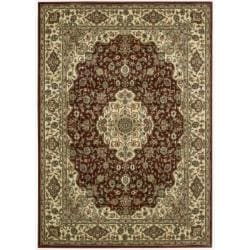 "Traditional Nourison Persian Arts Burgundy Rug (5'3"" x 7'5"")"
