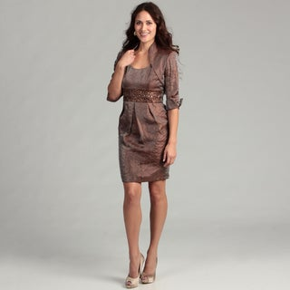 Jessica Howard Women's Almond Beaded 2-piece Dress FINAL SALE