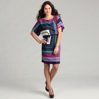 Jessica Howard Women's Purple Geometric Dress FINAL SALE