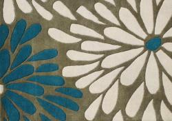 Alliyah Handmade Gothic Olive New Zealand Blend Wool Rug (8' x 10')