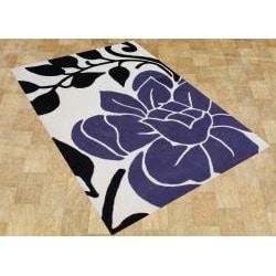 Alliyah Handmade Vanilla New Zealand Blend Wool Rug (8' x10')