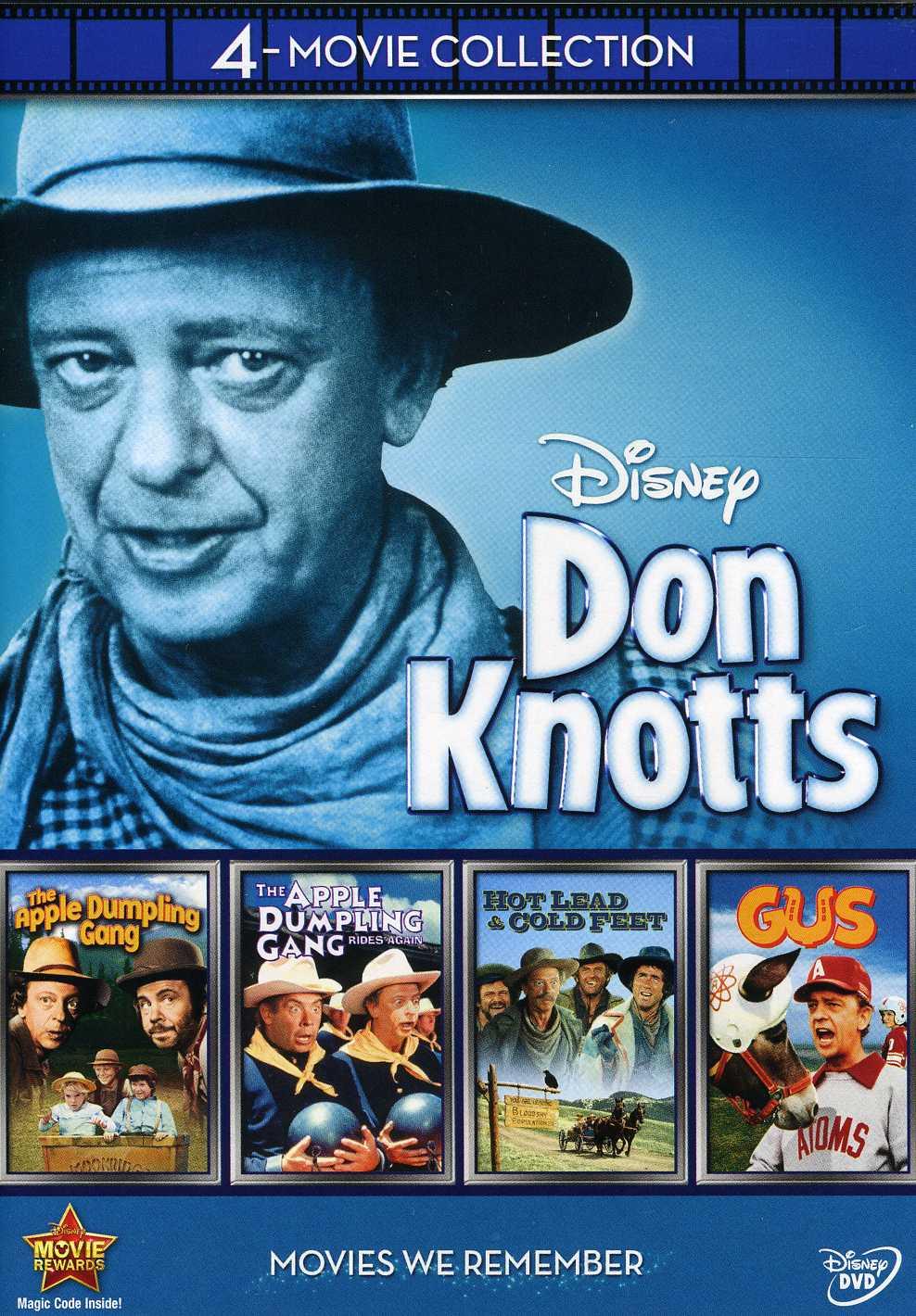 Disney 4-Movie Collection: Don Knotts (Apple Dumpling Gang / Apple Dumpling Rides Again / Gus / Hot Lead & Cold Feet) (DVD)