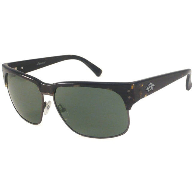 Anarchy Men's Sovereign Polarized Rectangular Sunglasses