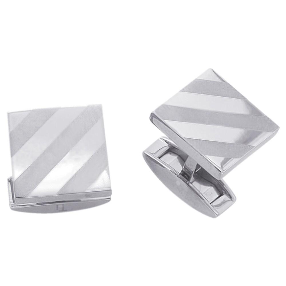Titanium Square Men's Cuff Link