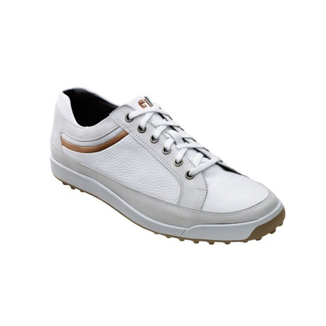 FootJoy Men's Contour Casual White/ Taupe Golf Shoes